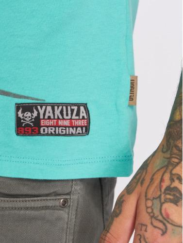 Yakuza Herren T-Shirt Face in türkis