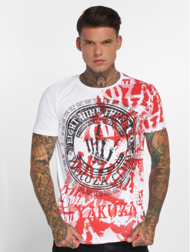 Yakuza Herren T-Shirt Club in weiß