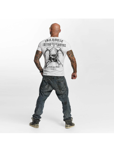 Yakuza Herren T-Shirt Tattoo Shop in weiß