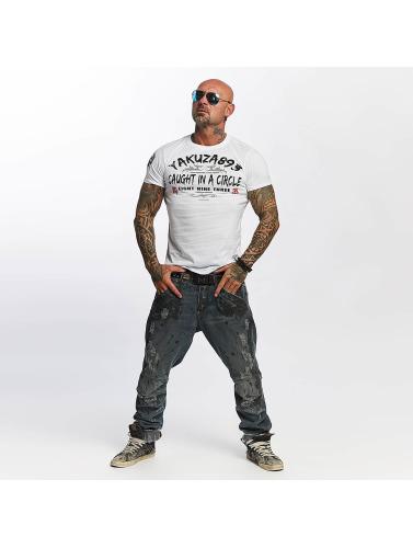 Yakuza Herren T-Shirt Caught In A Circle in weiß