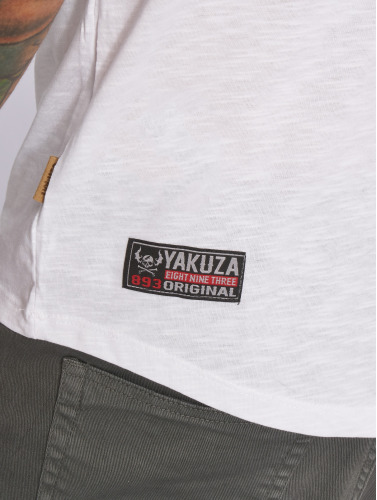 Yakuza Herren T-Shirt Basic in weiß