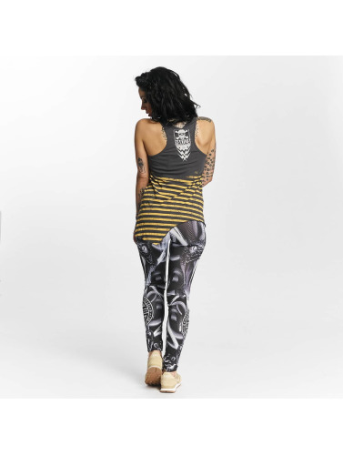 Yakuza Damen Tank Tops Stripes Urban in grau