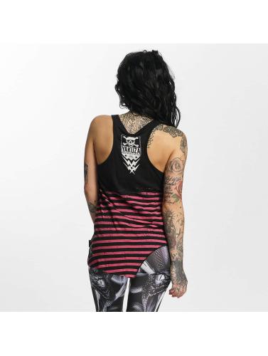 Yakuza Mujeres Tank Tops Stripes Urban in negro
