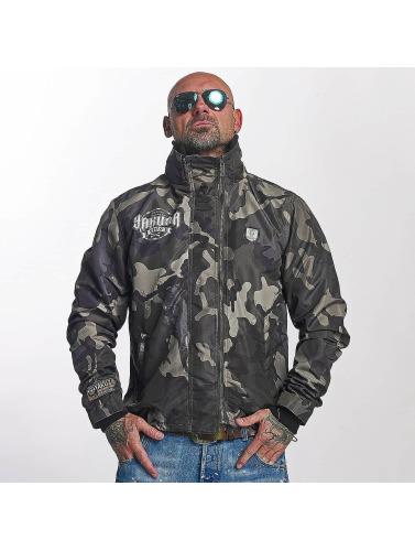 Yakuza Herren Übergangsjacke Massive Fxxking in camouflage