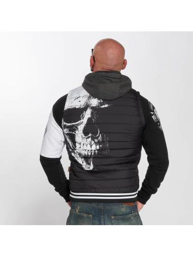 Yakuza Herren Weste Skull Quilted in schwarz Verkauf Footaction Billig Verkauf Sammlungen Gut Verkaufen Online wobm9fF2qA