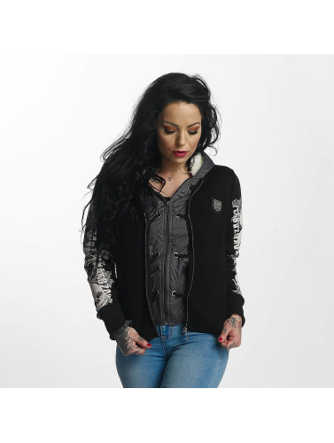 Yakuza Damen Winterjacke Skull Teddy Jacket in schwarz