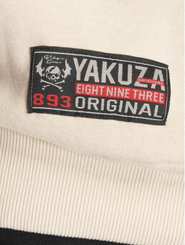 Yakuza Herren Zip Hoodie Punx in beige
