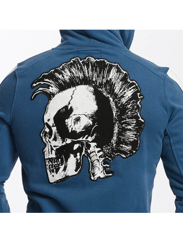 Yakuza Herren Zip Hoodie Punx in blau