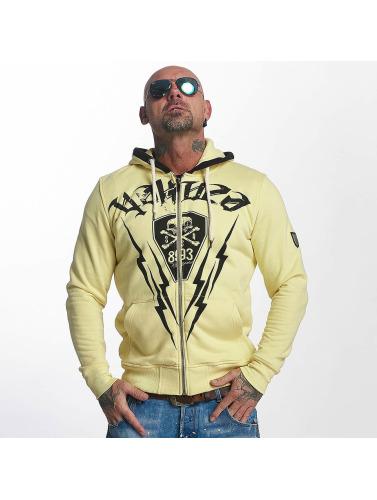 Yakuza Herren Zip Hoodie Thunderstorm in gelb