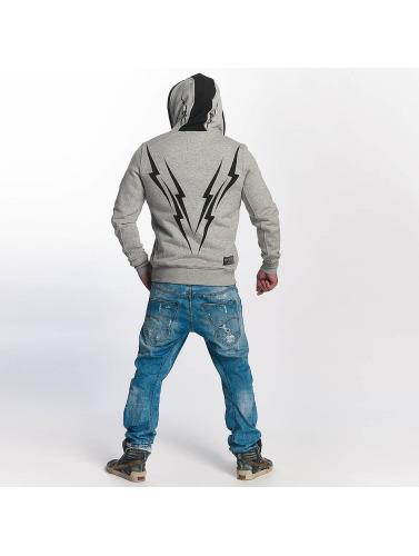 Yakuza Herren Zip Hoodie Thunderstorm in grau Billig Verkauf Großer Verkauf Preise Und Verfügbarkeit Für Verkauf Outlet Kollektionen Kosten Rabatt Größte Lieferant fr4YxMV4j