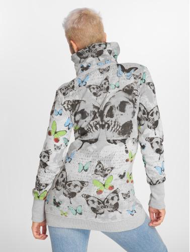 Yakuza Damen Zip Hoodie Butterfly in grau