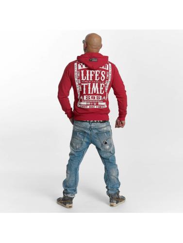 Yakuza Herren Zip Hoodie Zip in rot