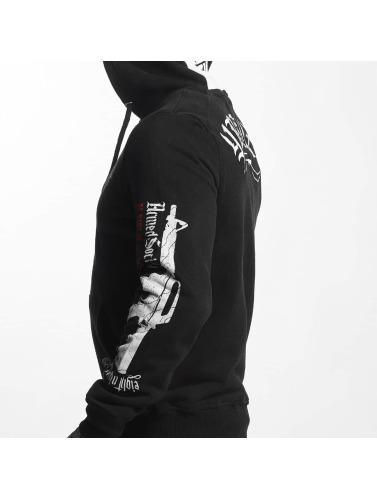 Yakuza Herren Zip Hoodie Armed Society in schwarz