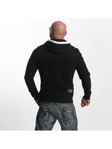 Yakuza Herren Zip Hoodie Thunder in schwarz