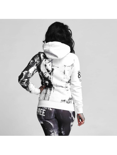 Yakuza Damen Zip Hoodie Unicorn in weiß