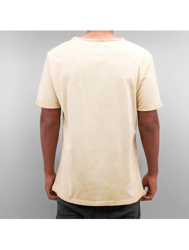Yezz Hombres Camiseta Marble in beis