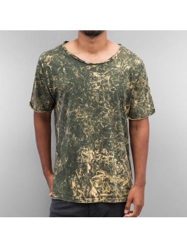 Yezz Hombres Camiseta Acid in oliva
