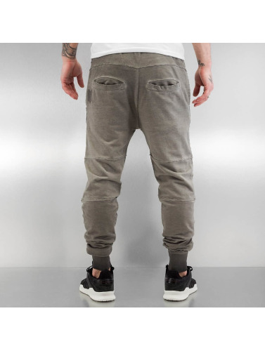 Yezz Herren Jogginghose Washed in grau