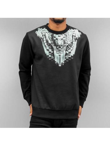 Yezz Herren Pullover Facade in schwarz
