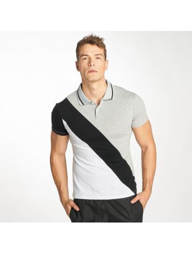 Zayne Paris Hombres Camiseta polo Stripe in gris
