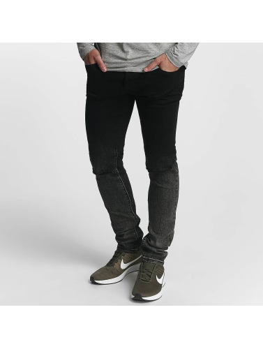 Zayne Paris Hombres Jeans ajustado Classic in negro
