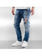 2Y Jean slim Patches bleu