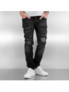 2Y Jeans ajustado Patch gris
