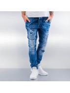2Y Jeans Straight Fit Destroyed bleu
