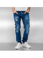 2Y Jeans Straight Fit Ribe bleu