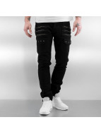 2Y Jeans Straight Fit Zip Fastener noir