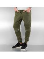 2Y Jogging pantolonları Zip kaki
