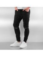 2Y joggingbroek Zip zwart