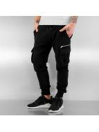 2Y Pantalone ginnico Cargo nero