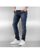 Pattern Skinny Jeans Blu...