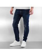 2Y Skinny Jeans Used blau