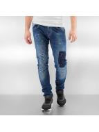 2Y Skinny Jeans Worn blau