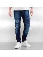 2Y Skinny Jeans Patchwork blau