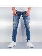 2Y Skinny jeans Destroyed blauw