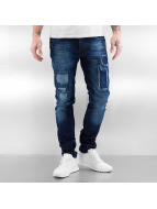 2Y Skinny jeans Patchwork blauw