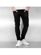 2Y Skinny Jeans Hafall schwarz