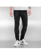 2Y Skinny Jeans Biker schwarz