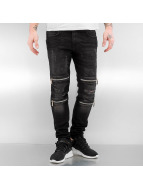 2Y Skinny Jeans Leyton schwarz
