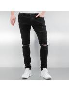 2Y Skinny Jeans Crap schwarz