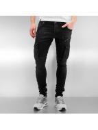 2Y Skinny Jeans Cargo schwarz
