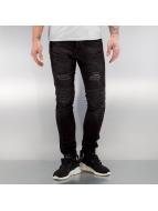 2Y Quilted Skinny Jeans Black
