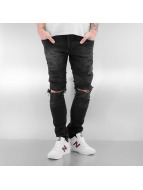 2Y Skinny jeans Destroyed zwart
