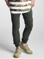 2Y Slim Fit -farkut Denim Jogger oliivi