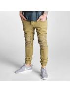 2Y Slim Fit Jeans Denim Jogger béžová
