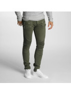 2Y Slim Fit Jeans Savage olijfgroen
