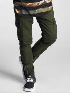 2Y Slim Fit Jeans Adres olivový